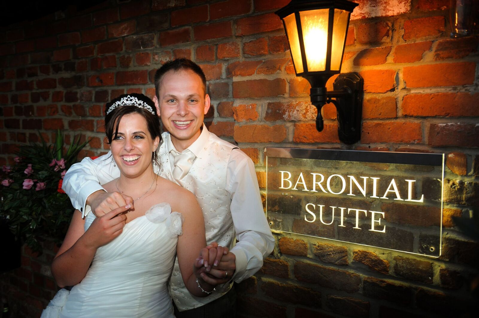 couple at the baronial events suite