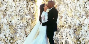 Kardashian wedding rose wall