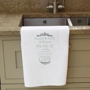 wedding teatowel