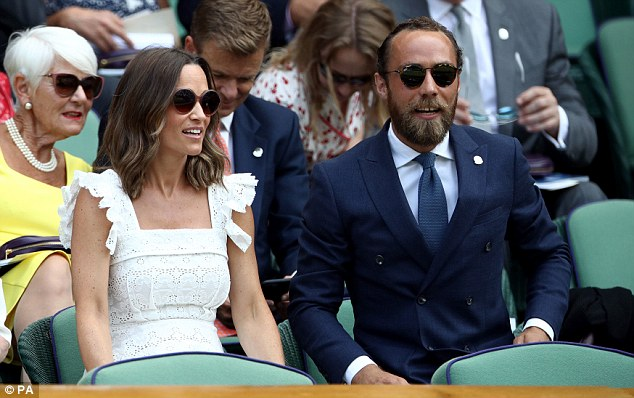 Pippa Matthews and brother James Middleton