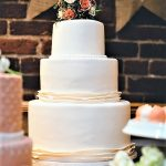 wedding cake at industrial chic wedding