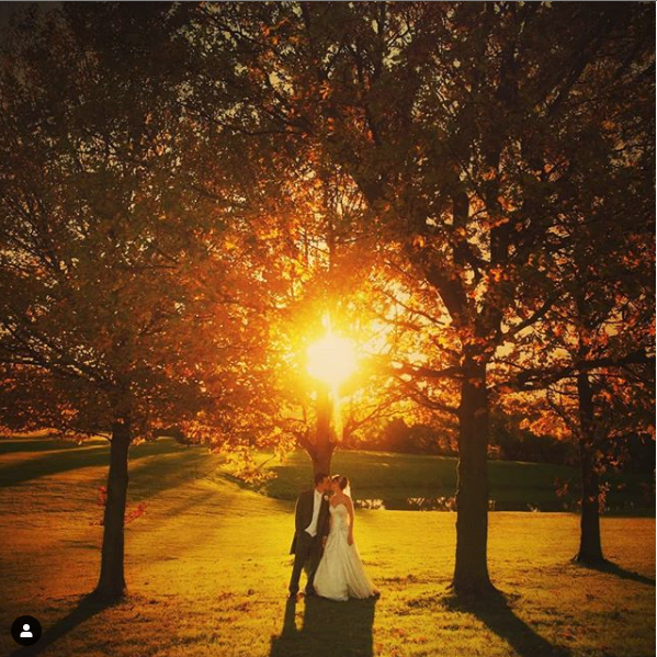 Sunset Wedding Photo at Crondon Park
