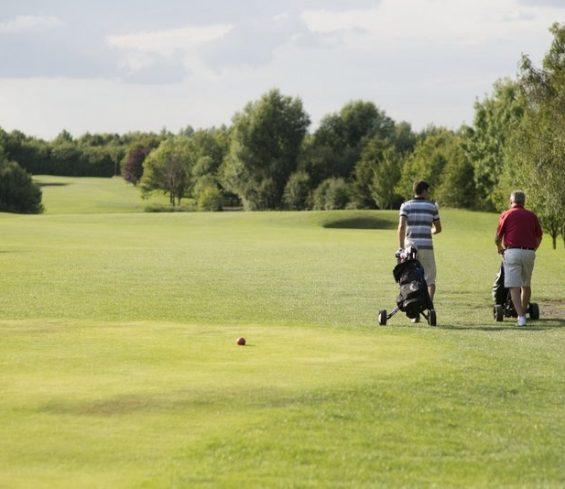 2 Ball Playing Golf at Crondon Park