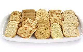 Crackers on Tray at Crondon Park
