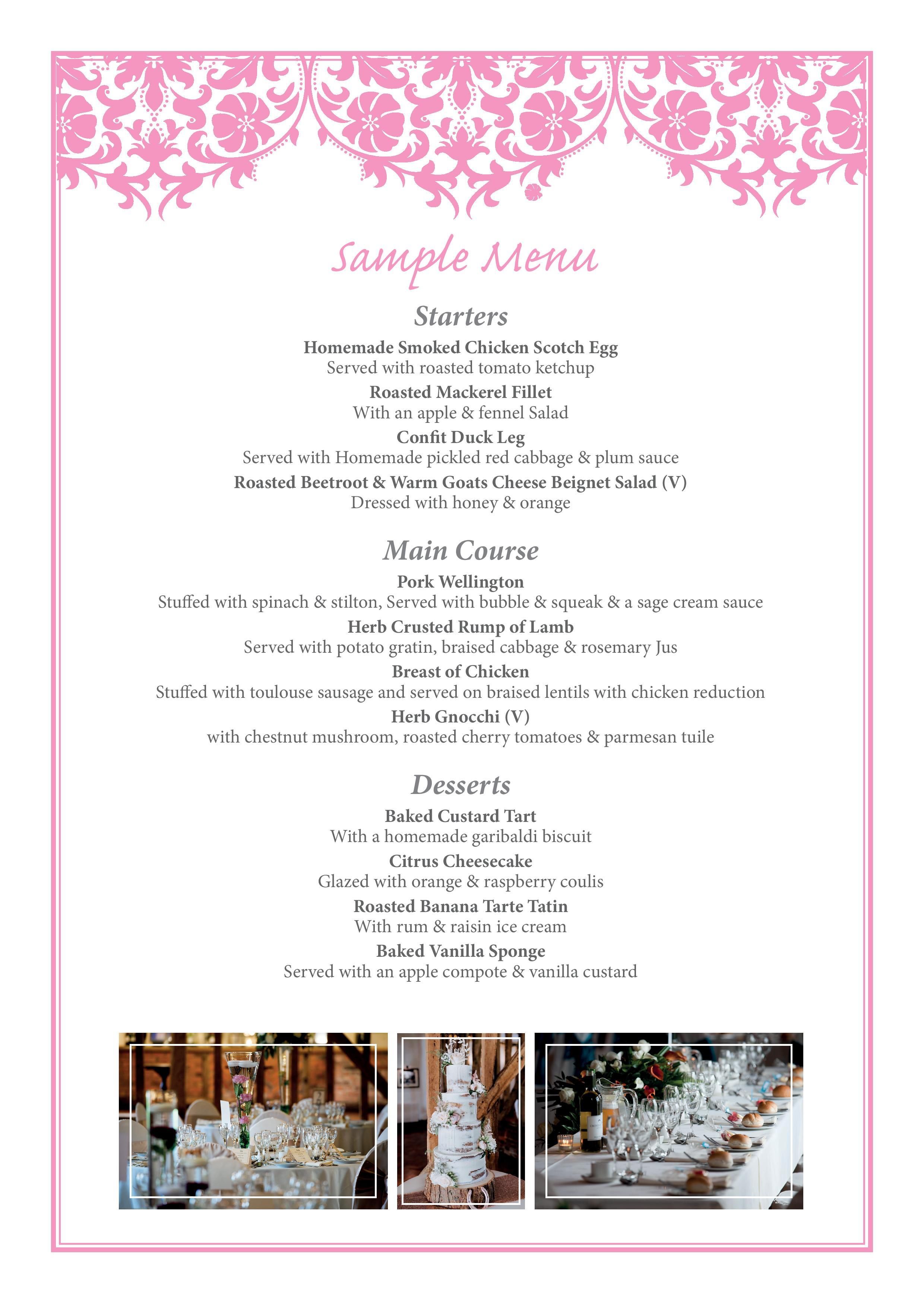 crondon sample menu
